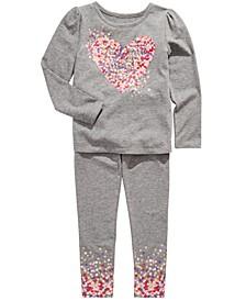 Little Girls Heart T-Shirt & Dot-Print Leggings, Created For Macy's