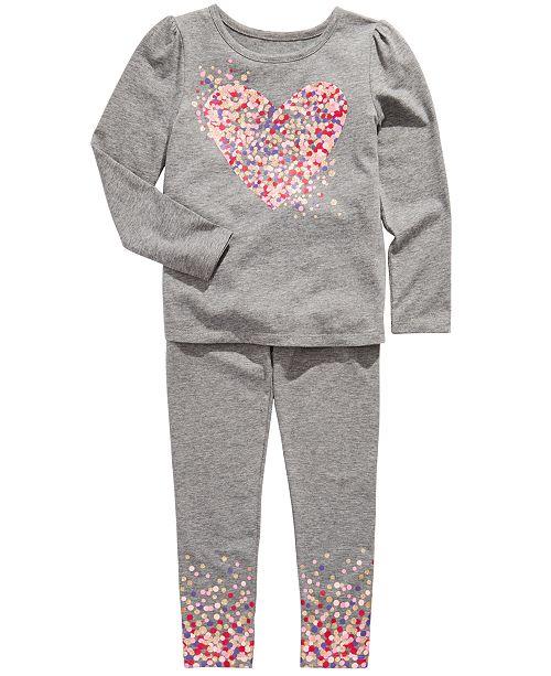 Epic Threads Little Girls Heart T-Shirt & Dot-Print Leggings, Created For Macy's