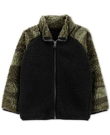 Toddler Boys Camo-Print Fleece Jacket