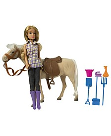 Western Doll with Horse Riding Set