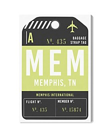 "Memphis Luggage Tag Canvas Art - 45"" x 30"" x 1.5"""