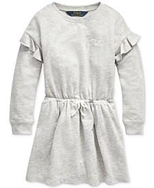 Little Girls French Terry Ruffle Dress