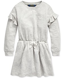 Polo Ralph Lauren Little Girls French Terry Ruffle Dress