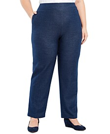 Plus Size Road Trip Proportioned Denim Pants
