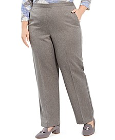 Plus Size Sapphire Skies Herringbone Pull-On Pants