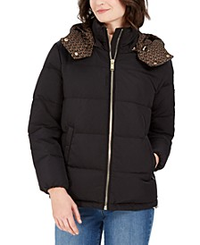 Hooded Logo-Print Puffer Coat