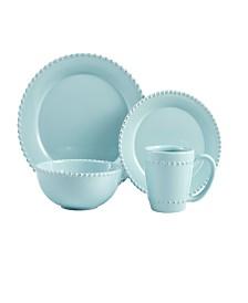 Jay Imports Bianca Bead Azul 16 Pc Dinnerware Set