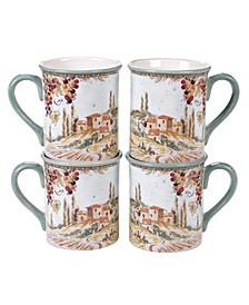 Tuscan Breeze 4-Pc. Mugs