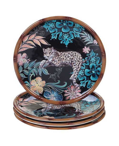 Certified International Exotic Jungle 4-Pc. Salad Plates