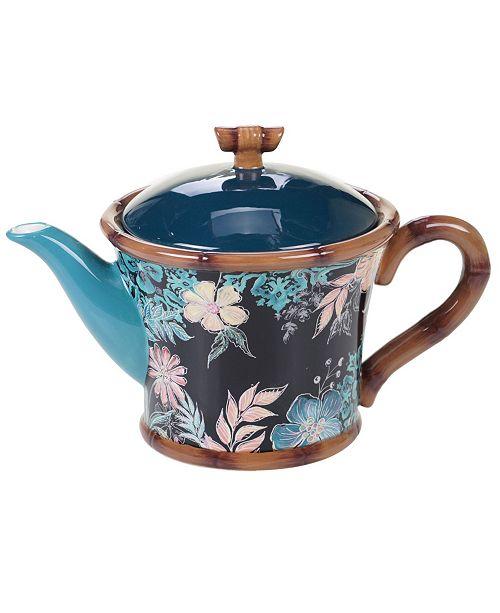 Certified International Exotic Jungle Teapot
