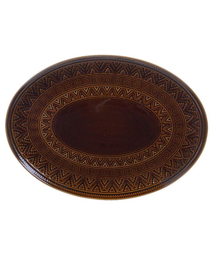 Certified International - Aztec Brown Oval Platter