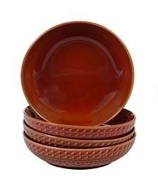 Aztec Rust 4-Pc. Soup Bowls