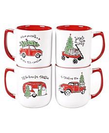 Holiday Greetings 4-Pc. Mugs