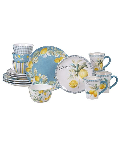 Certified International Citron 16-Pc. Dinnerware Set
