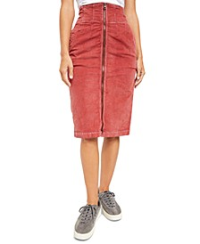I Want It All Corduroy Midi Skirt
