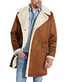 Men's Braydon Faux-Shearling Double-Breasted Coat