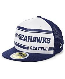 New Era Boys' Seattle Seahawks On-Field Sideline Home 59FIFTY-FITTED Cap