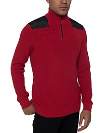 Men's Quarter-Zip Mock Neck Sweater