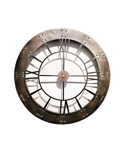 Peterson Artwares Rustic Finished Frame Wall Clock