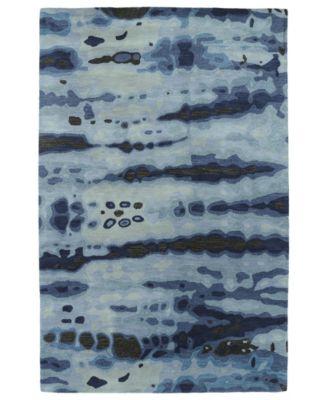 Brushstrokes BRS03-17 Blue 2' x 3' Area Rug