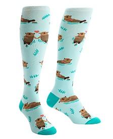 Sock it to me Knee High My Otter Half Socks