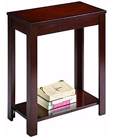 Wooden Side Table with Bottom Shelf