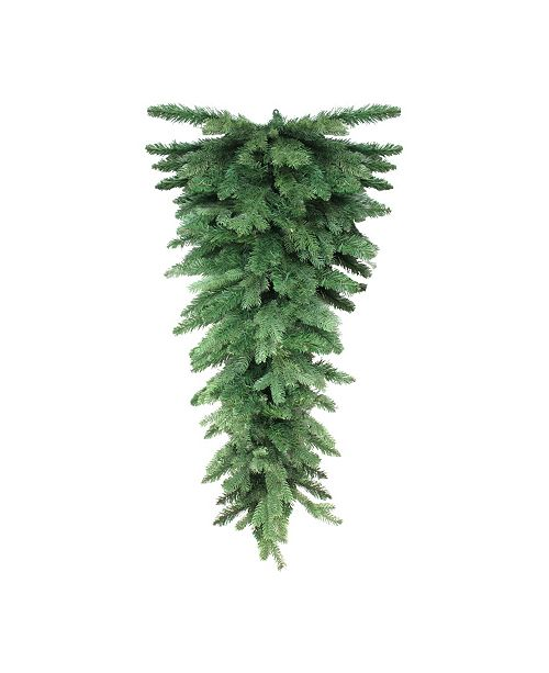 "Northlight 54"" Mixed Pine Artificial Christmas Teardrop Swag - Unlit"