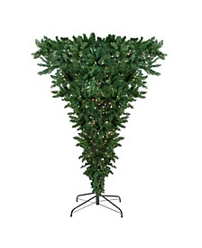7.5' Pre-Lit Upside Down Spruce Artificial Christmas Tree - Clear Lights