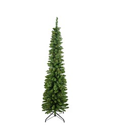 Traditional Green Pine Pencil Artificial Christmas Tree - Unlit
