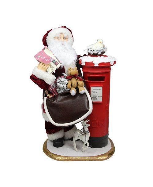Northlight 2 Decorative Santa Claus with Satchel and Mailbox Christmas Decoration