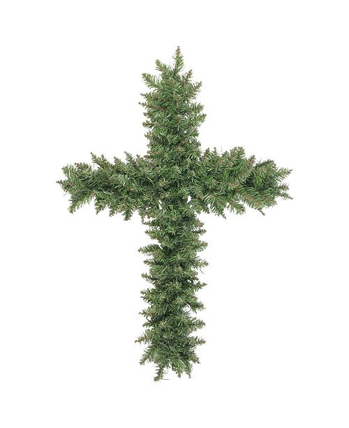 Northlight Pine Artificial Cross Shape Wreath with Ground Stake - Unlit
