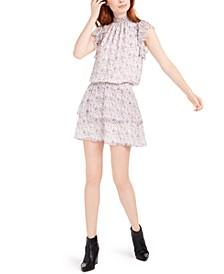 Smocked Ruffled Mini Dress