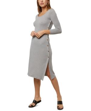 O'neill Juniors' Pilar Knit Midi Dress In Gray