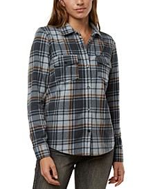 Juniors' Zuma Plaid Fleece Shirt