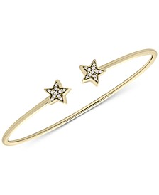 Diamond Stars Cuff Bracelet (1/10 ct. t.w.) in 14k Gold