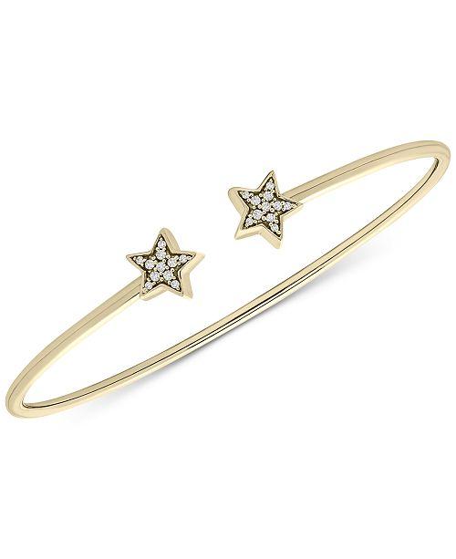 Macy's Diamond Stars Cuff Bracelet (1/10 ct. t.w.) in 14k Gold