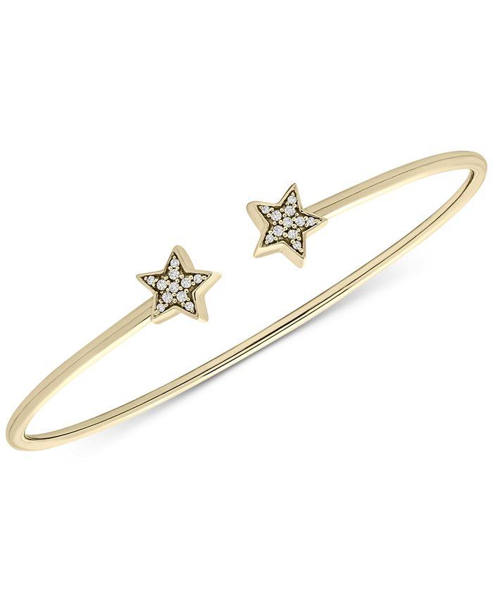 Macy's - Diamond Stars Cuff Bracelet (1/10 ct. t.w.) in 14k Gold