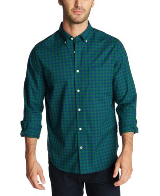 Nautica Mens Classic-Fit Wrinkle-Resistant Sail Plaid Shirt