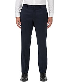 Men's Modern-Fit Navy Solid Suit Separate Pants