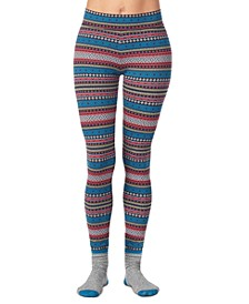 Women's 2-Pc. Super-Soft Printed Legging & Sock Set