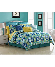 La Paz 4 Piece Comforter Set, Full