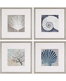 "Coastal II Framed Wall Art Set of 4, 19"" x 19"""