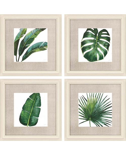 """Paragon Welcome to Paradise Framed Wall Art Set of 4, 21"""" x 21"""""""