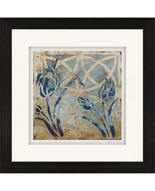 """Paragon Stained Glass Indigo III Framed Wall Art, 35"""" x 35"""""""