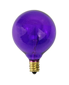 Pack of 25 Purple G50 Incandescent Christmas Replacement Bulbs