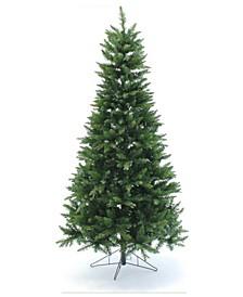 7.5' Pre-Lit Slim Christmas Tree with Warm White LED Lights