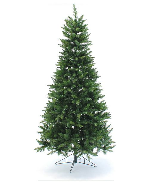 Perfect Holiday 7.5' Pre-Lit Slim Christmas Tree with Warm White LED Lights