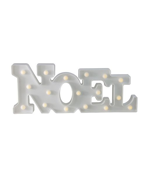 "Northlight 17"" Battery Operated LED Lighted ""NOEL"" Christmas Marquee Sign"