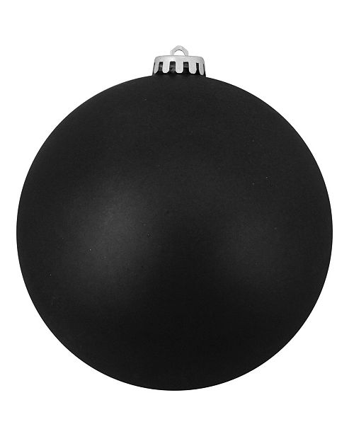 "Northlight Jet Black Shatterproof Matte Christmas Ball Ornament 10"" 250mm"