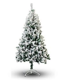 8' Flocked Snow Christmas Tree